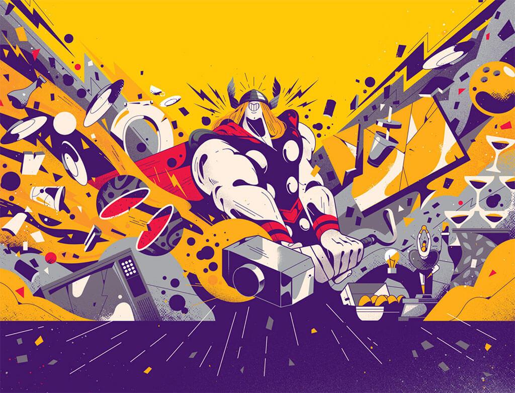 Avengers Fan Art by Gabriel Silveira