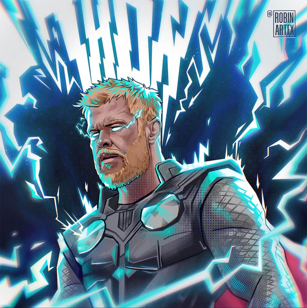 Avengers Fan Art by Robin artfx