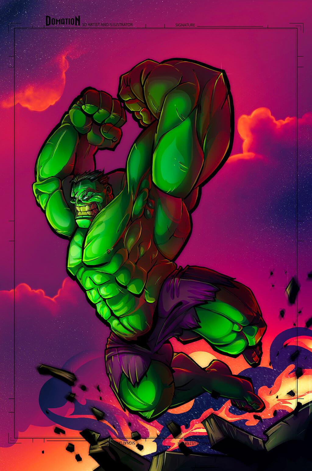 Avengers Fan Art by Dominic O'Neill