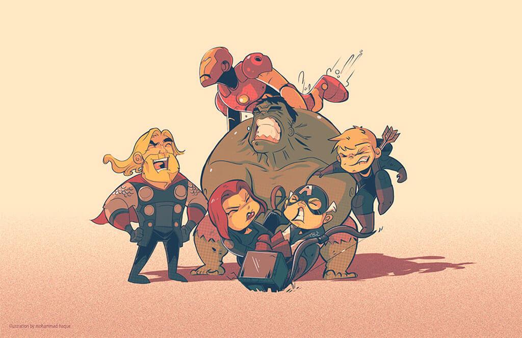 """Avengers Fan Art by Mohammad """"Hawk"""" Haque"""
