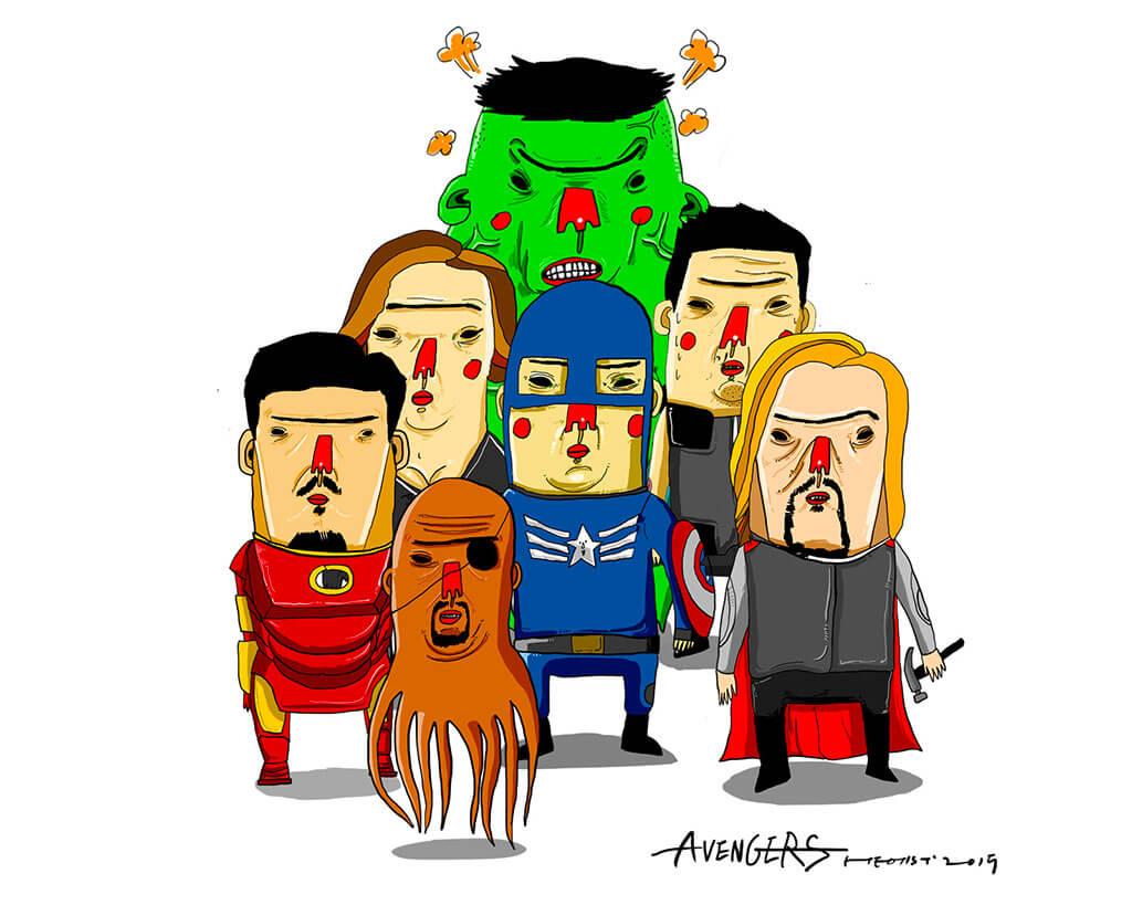 Avengers Fan Art by Heo inhoi