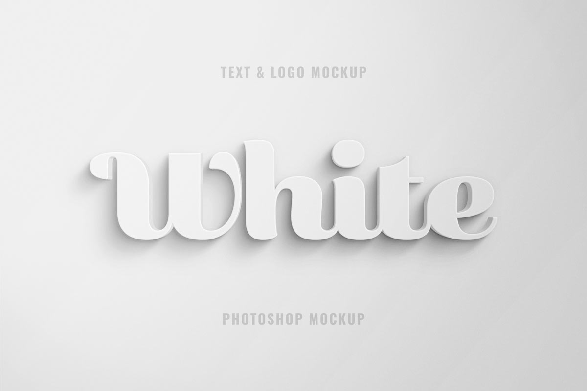 Free White 3D Text Effect
