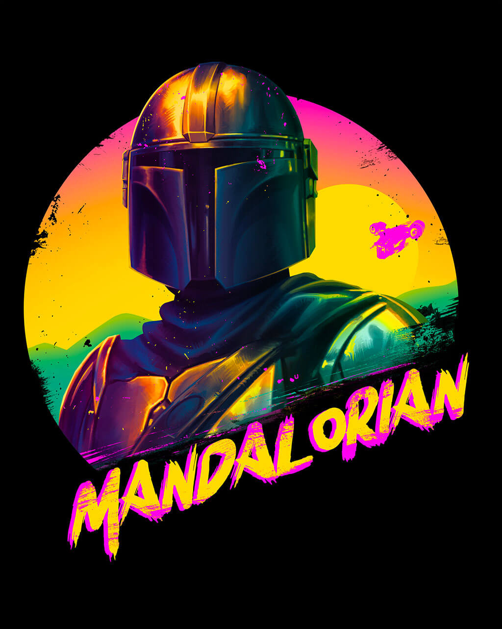 Mandalorian Fan Art by Janine Berg