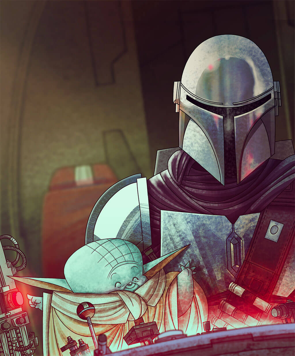 Mandalorian Fan Art by Ramon Pla
