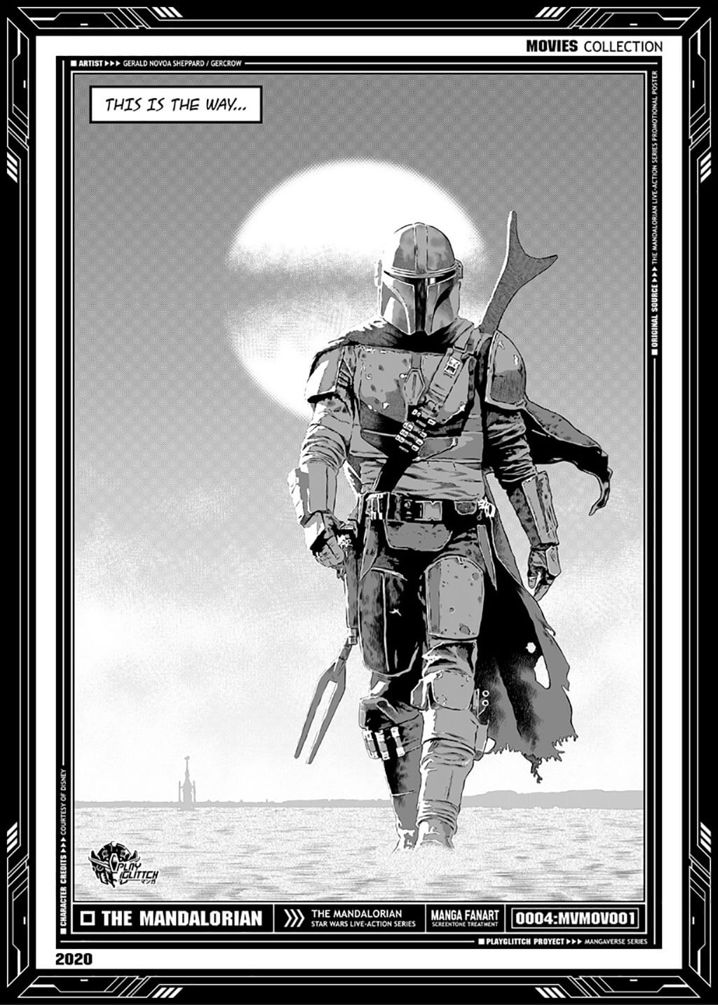 Mandalorian Fan Art by PLAY GLITTCH