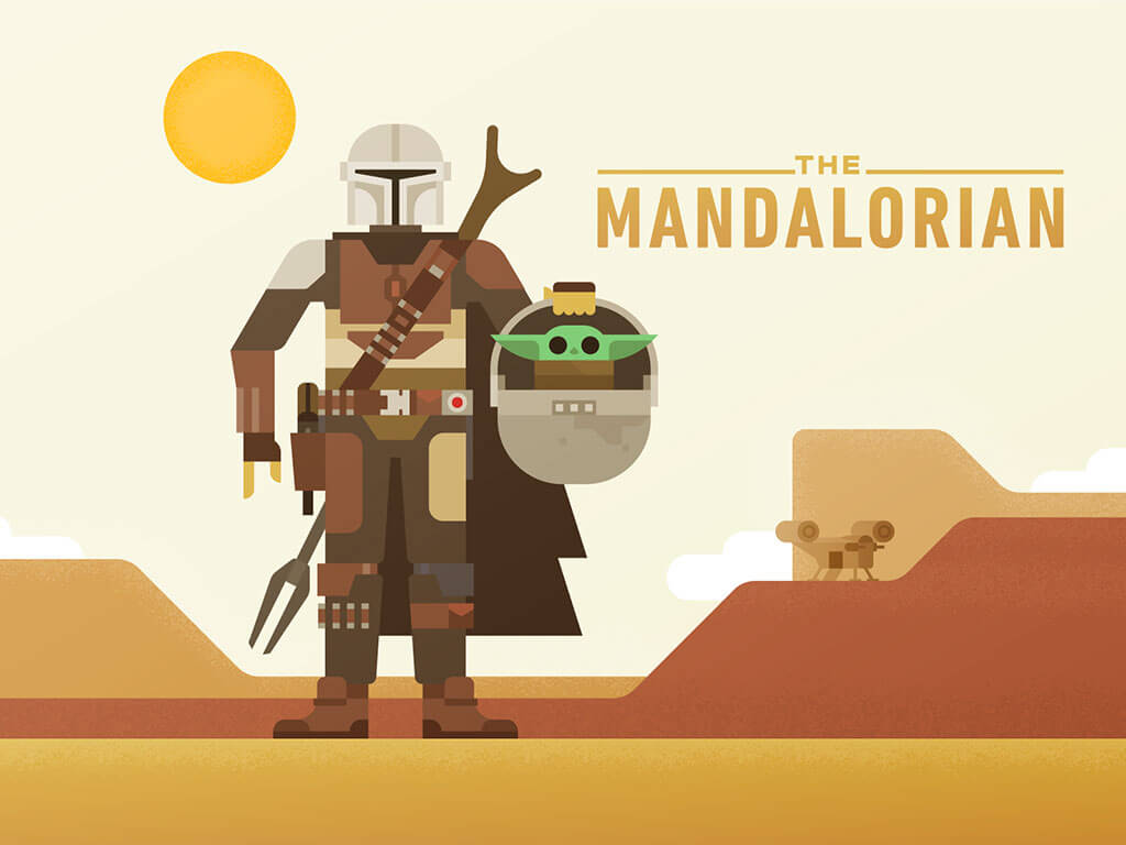 Mandalorian Fan Art by Roger Strunk