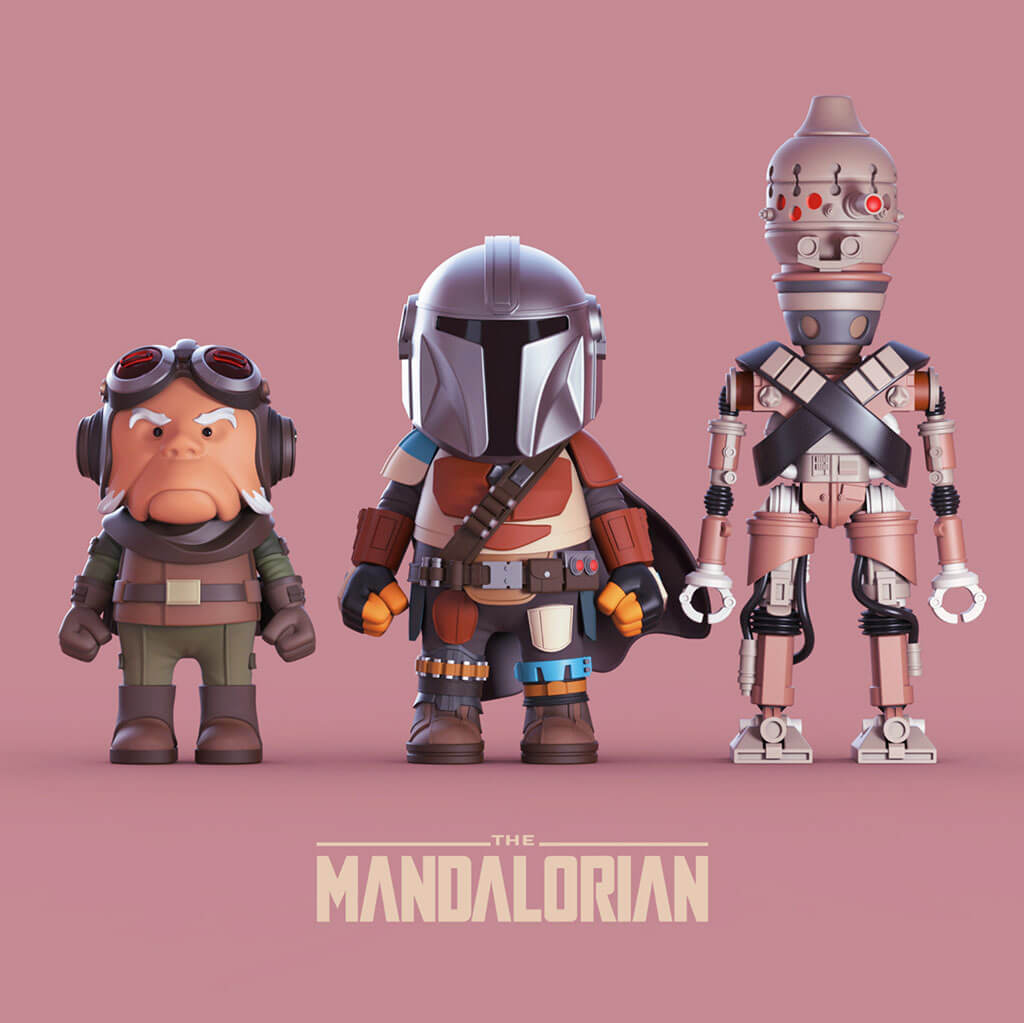 Mandalorian Fan Art by Shoulong Tian