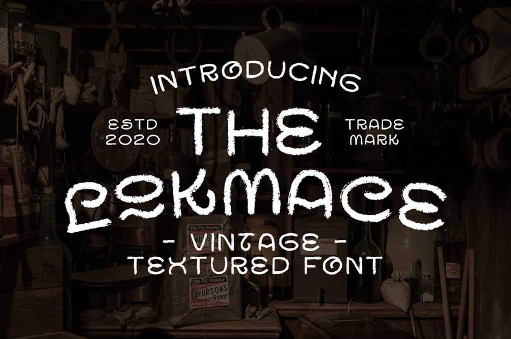 Lokmace Vintage Texture Font