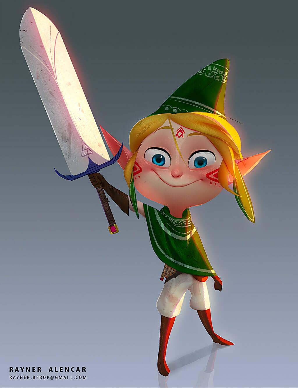 Zelda Fan Art by Rayner Alencar
