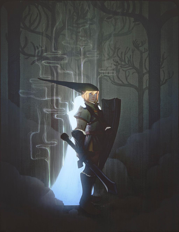 Zelda Fan Art by nephelomancer
