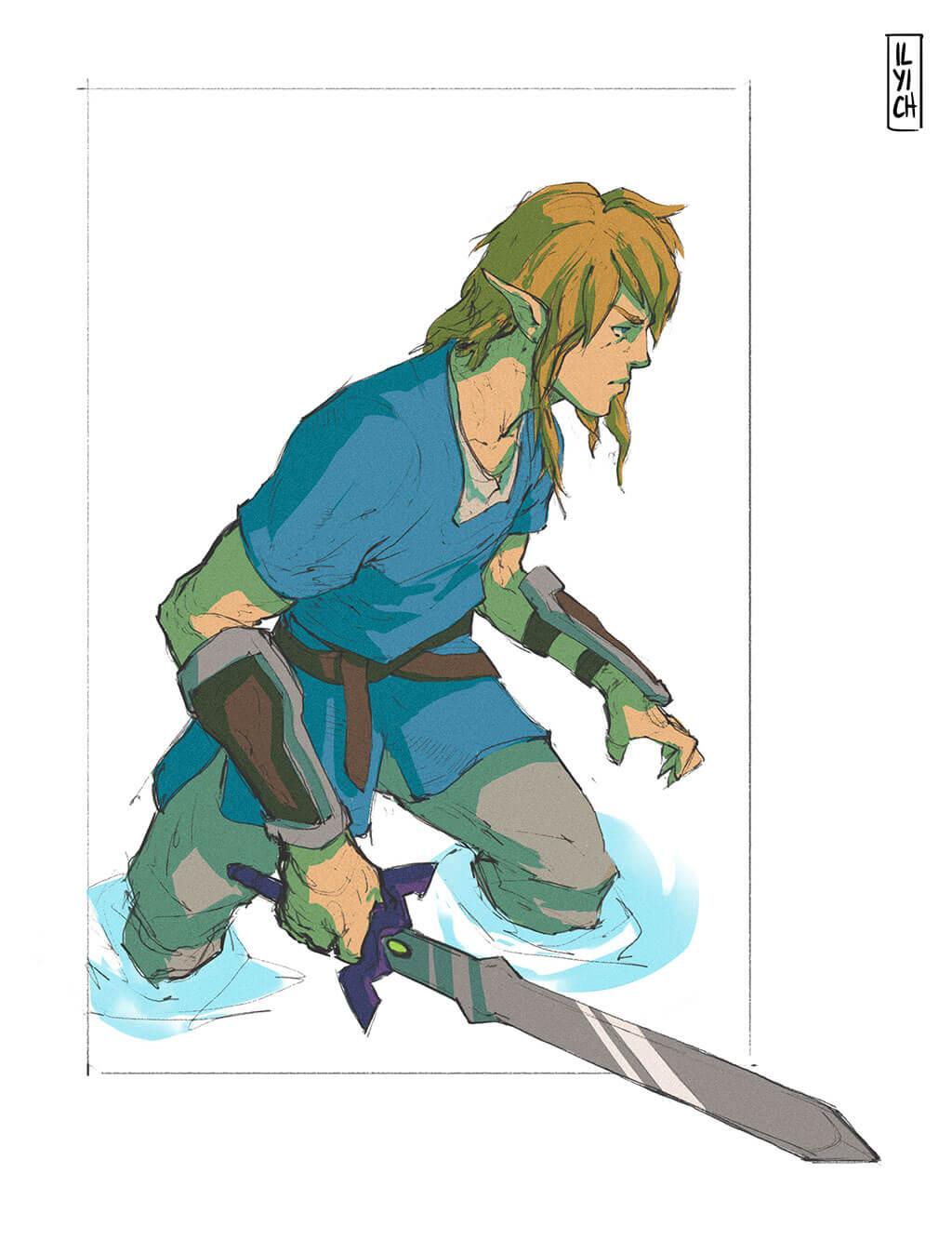 Zelda Fan Art by Pablo Ilyich