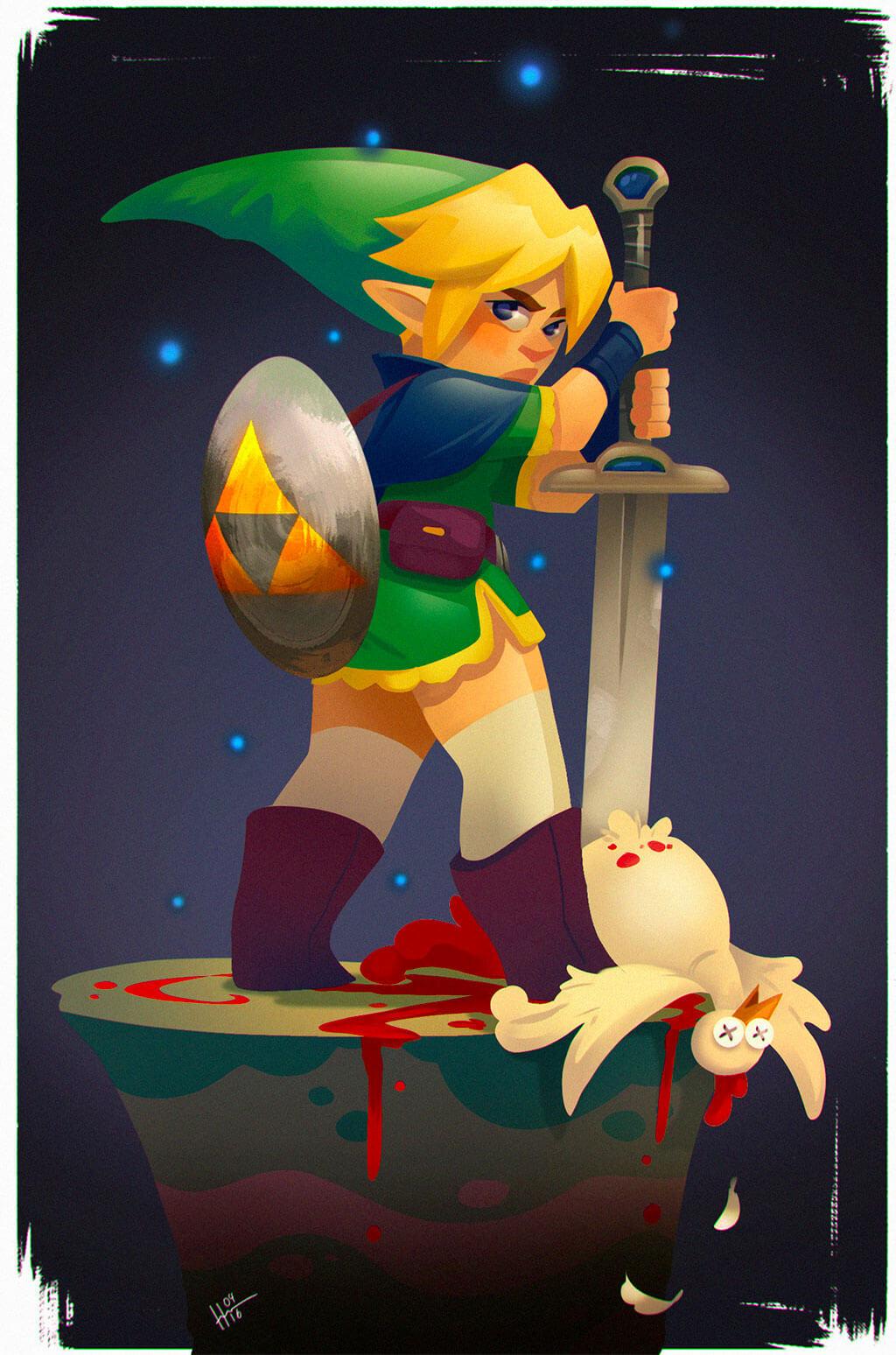 Zelda Fan Art by Jenny Harder