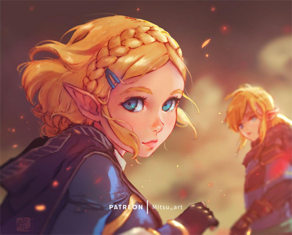 Zelda Fan Art by Mitsu Art