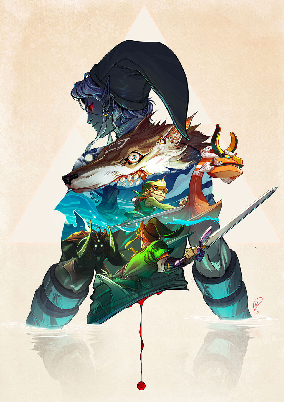 Zelda Fan Art by Mathieu Moreau