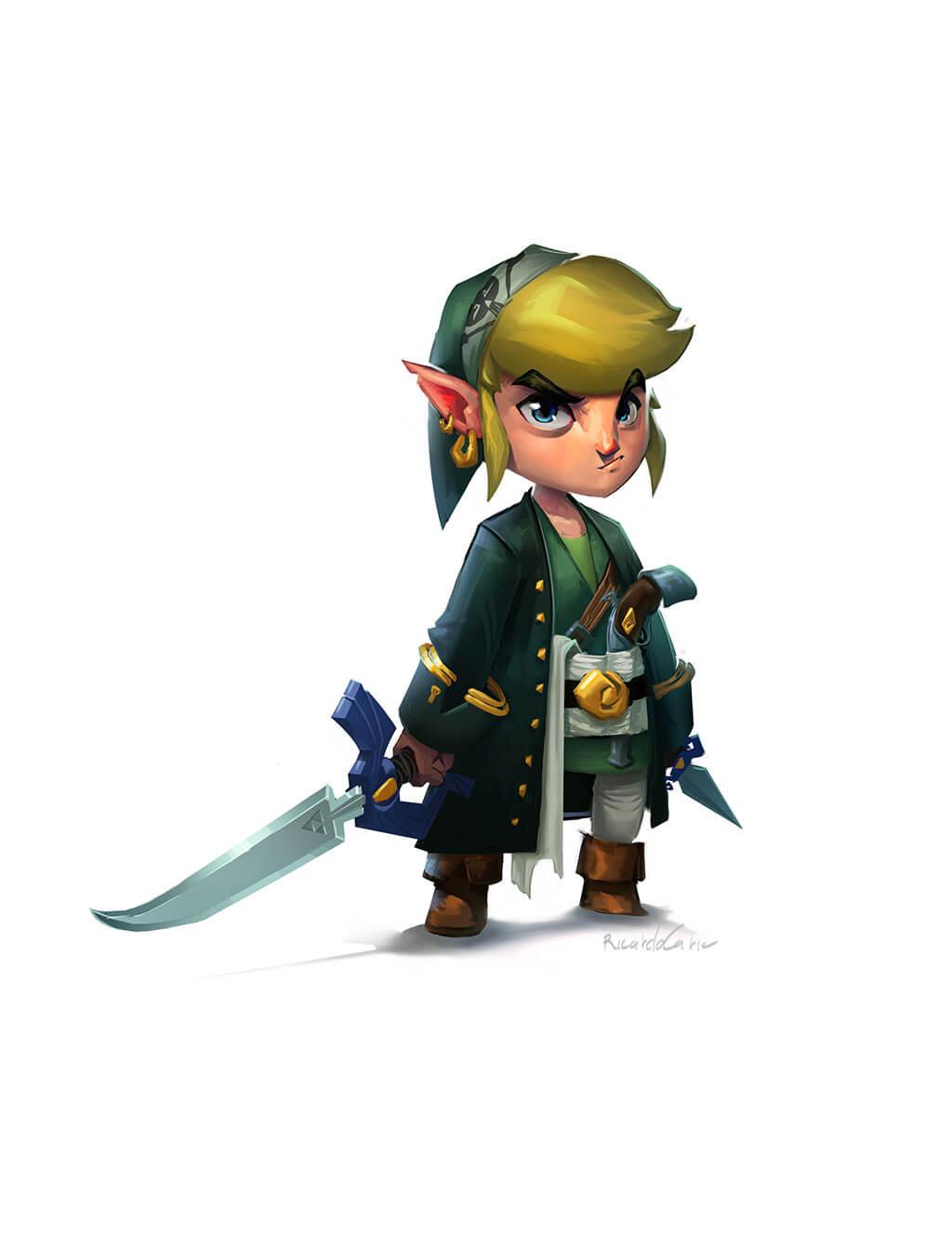 Zelda Fan Art by Ricardo Caria