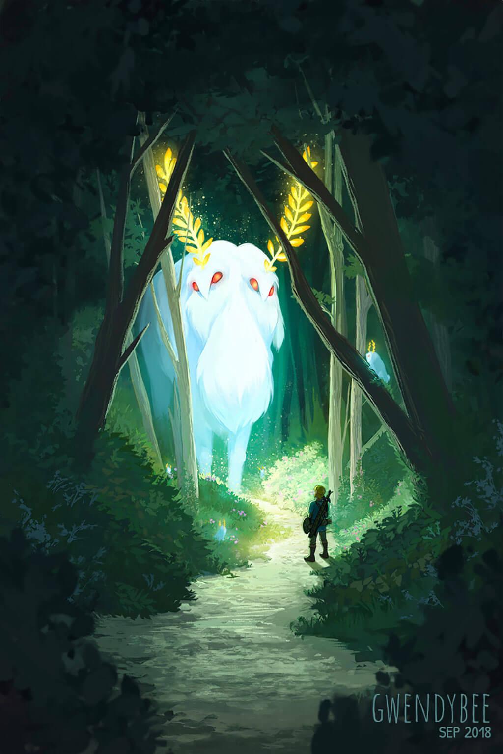 Zelda Fan Art by Gwen Bassett
