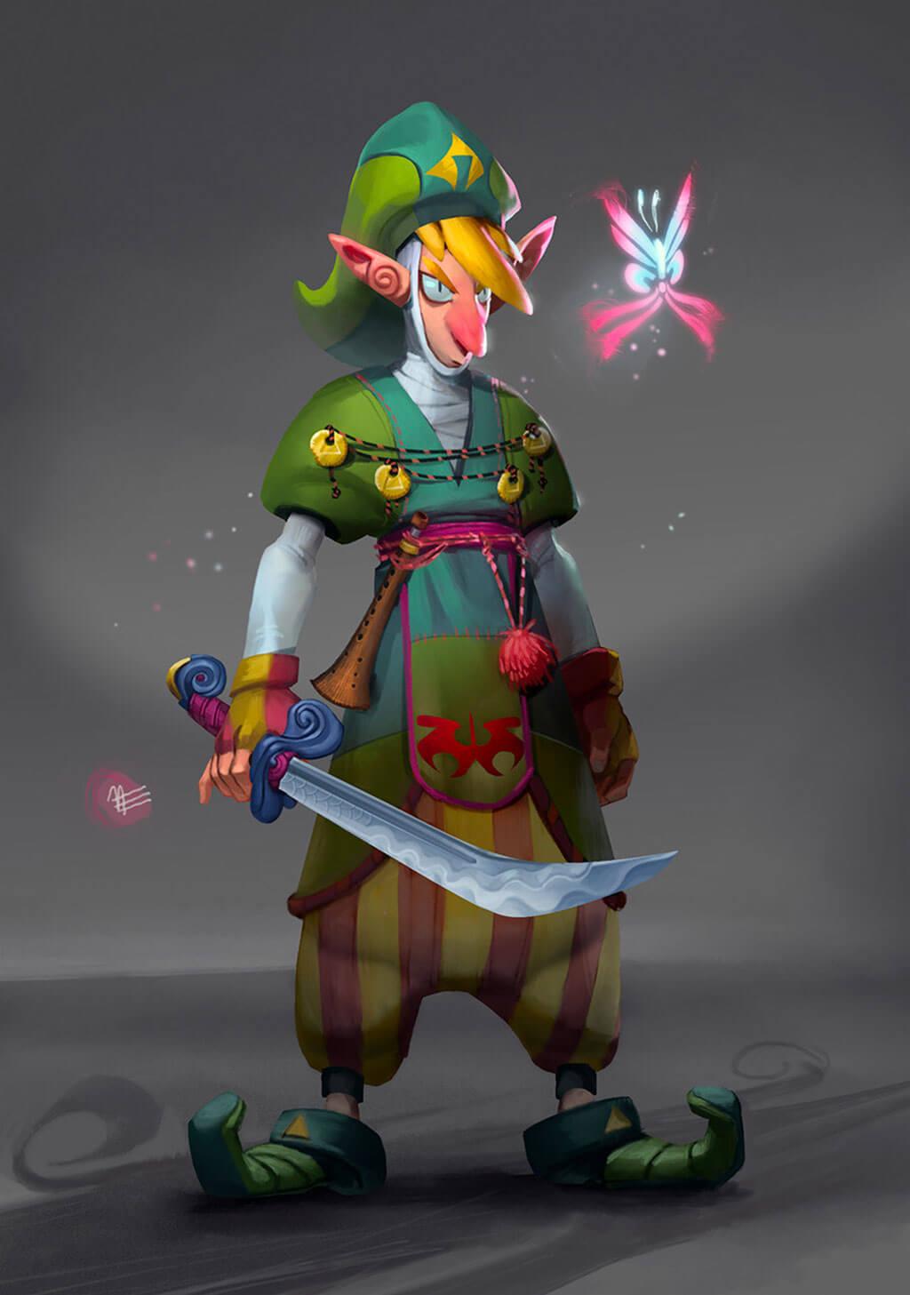 Zelda Fan Art by Nadia Enis