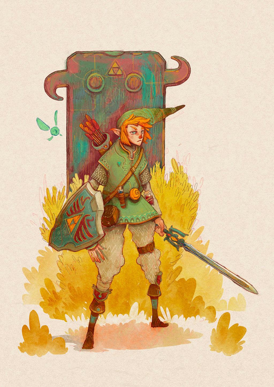 Zelda Fan Art by Dani Diez