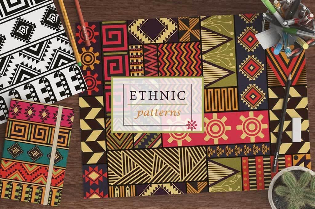 10 Ethnic Seamless Patterns