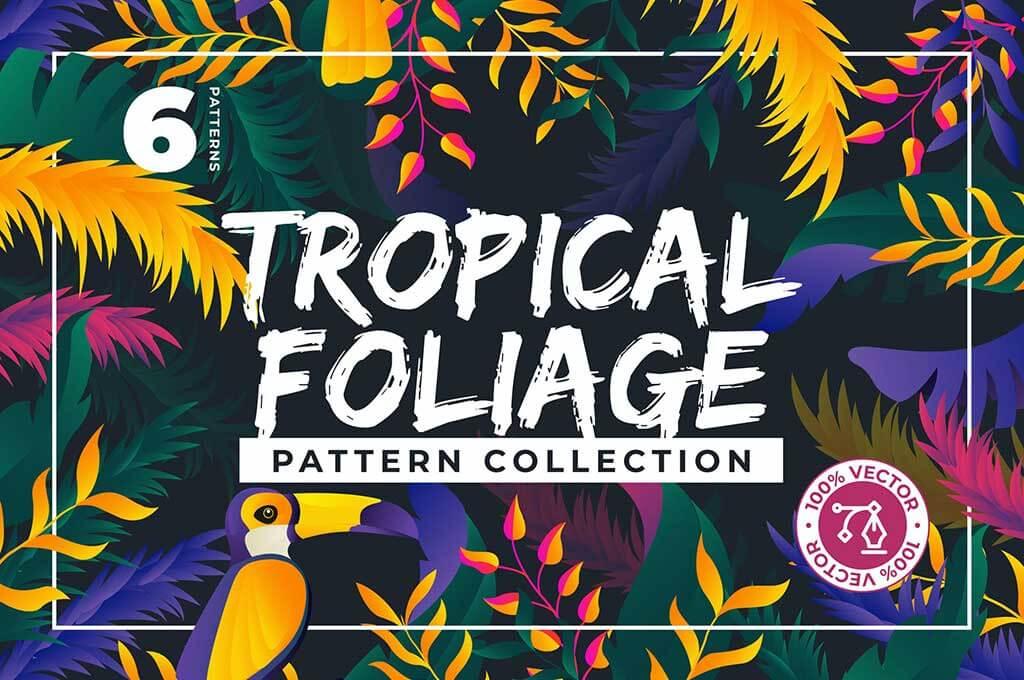 6 Colorful Jungle Patterns