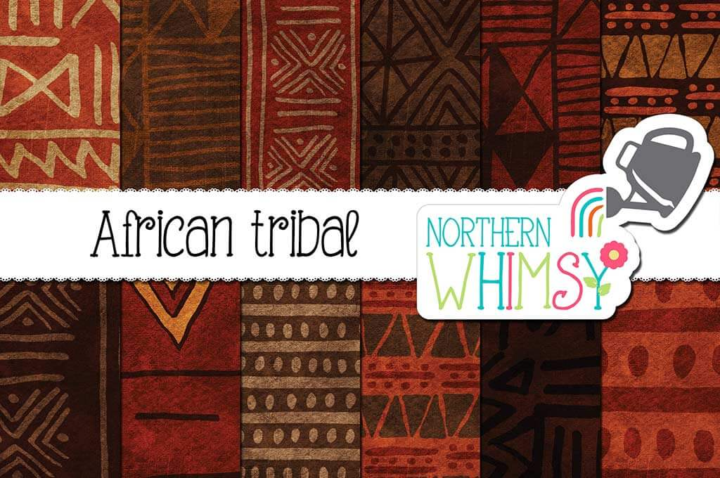 African Tribal Patterns - Textured