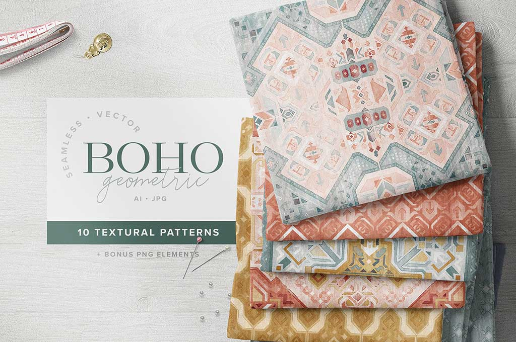 Boho Geometric Textured Patterns