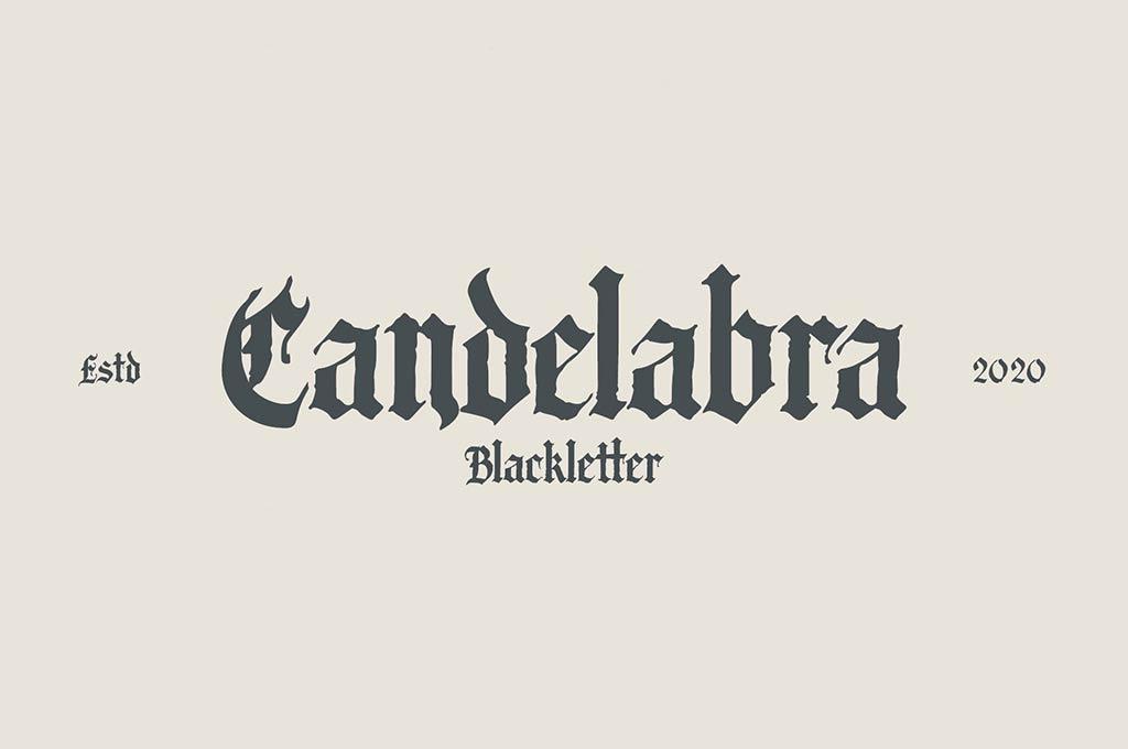 Candelabra Font + Extras