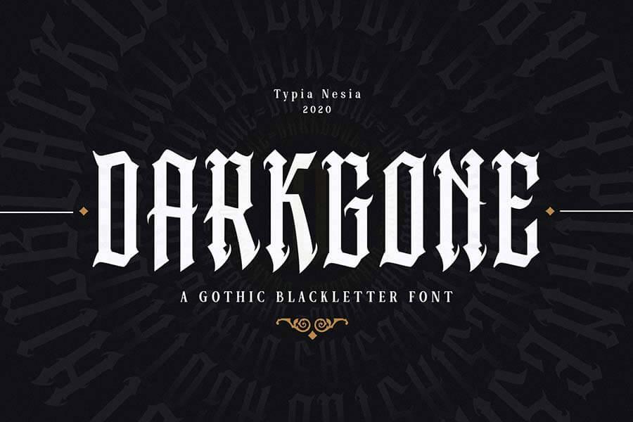 Darkgone — Gothic Blackletter Font