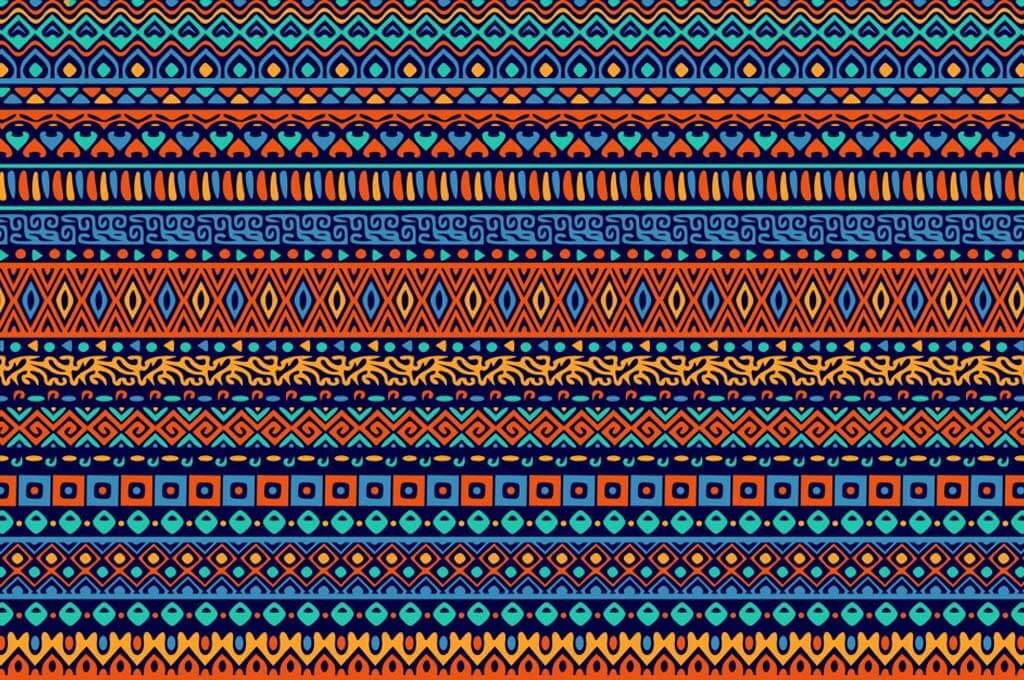 Decorative Pattern of Ethnic Ornamental Shapes