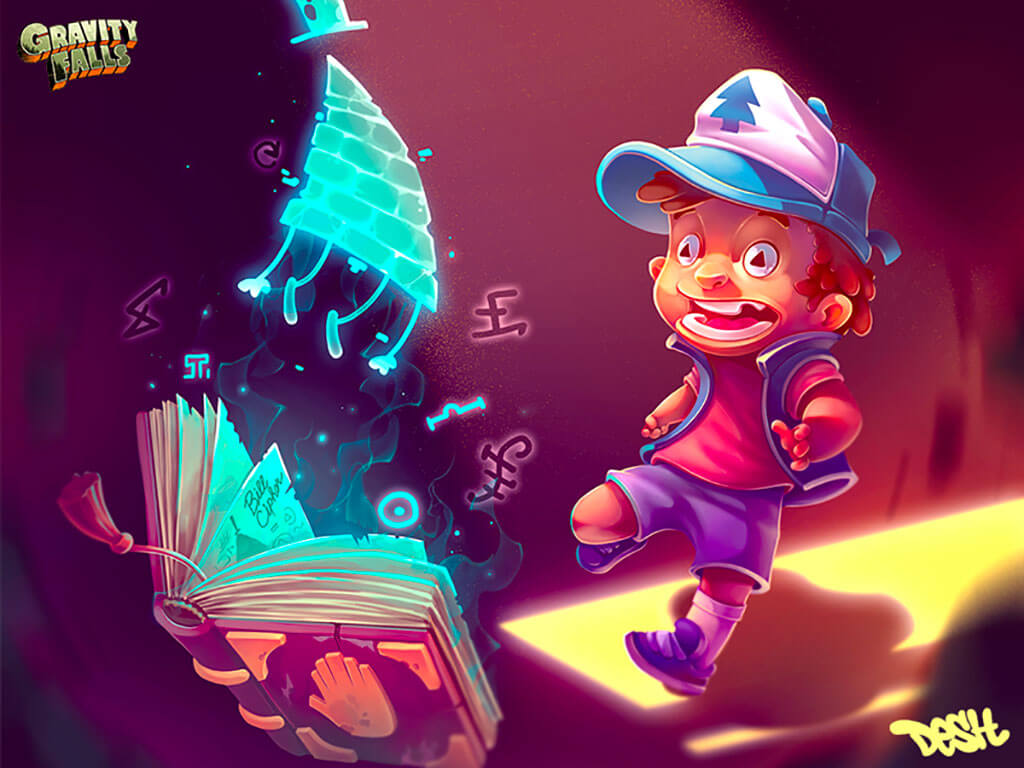 Gravity Falls fan art by Dimka Desh