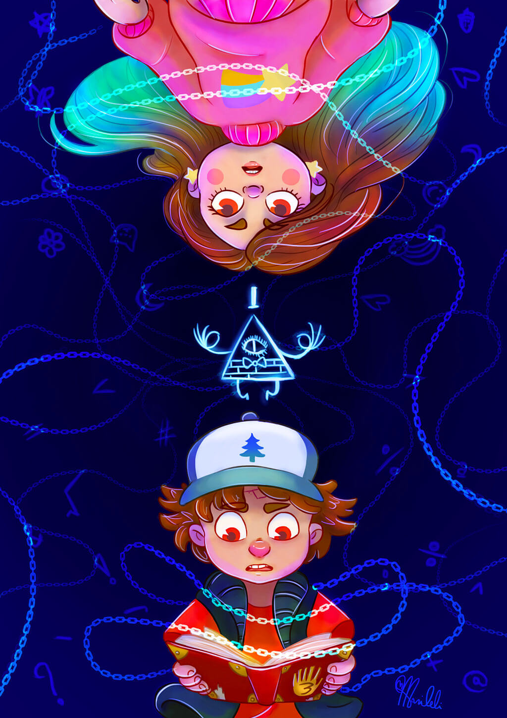 Gravity Falls fan art by Mariana Nicoleli