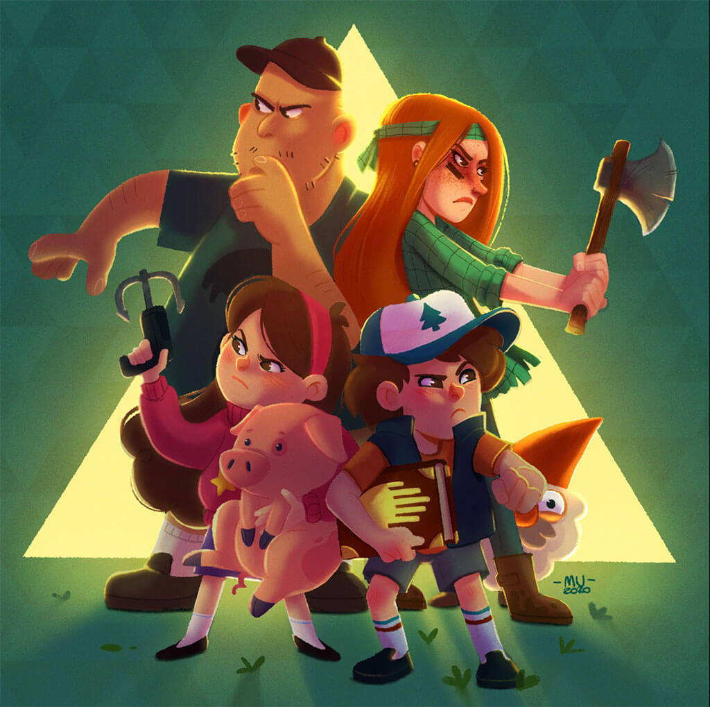 Gravity Falls fan art by Sara Mauri