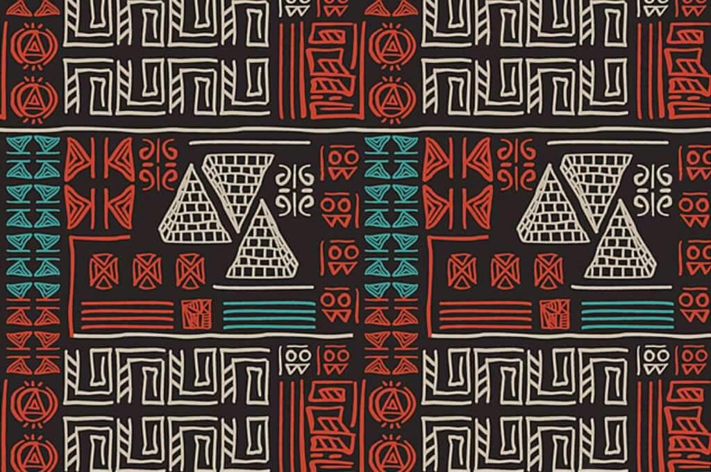 Hand Drawn Tribal Pattern With Creative Egypt Symbol