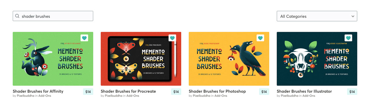 Our Memento shader brushes series