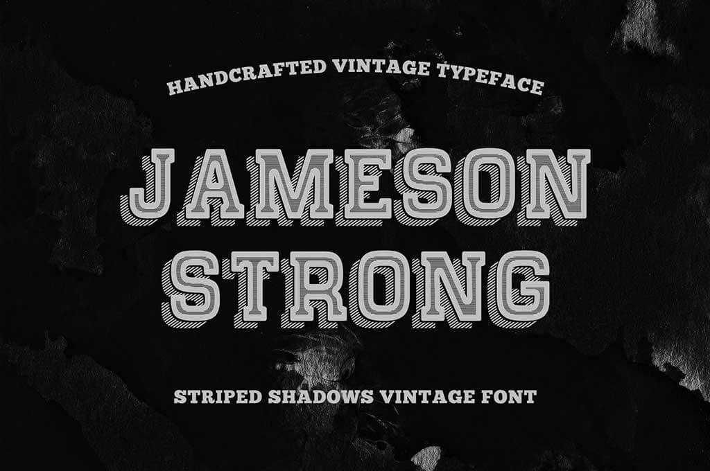 Shadow Stipes Vintage Typeface