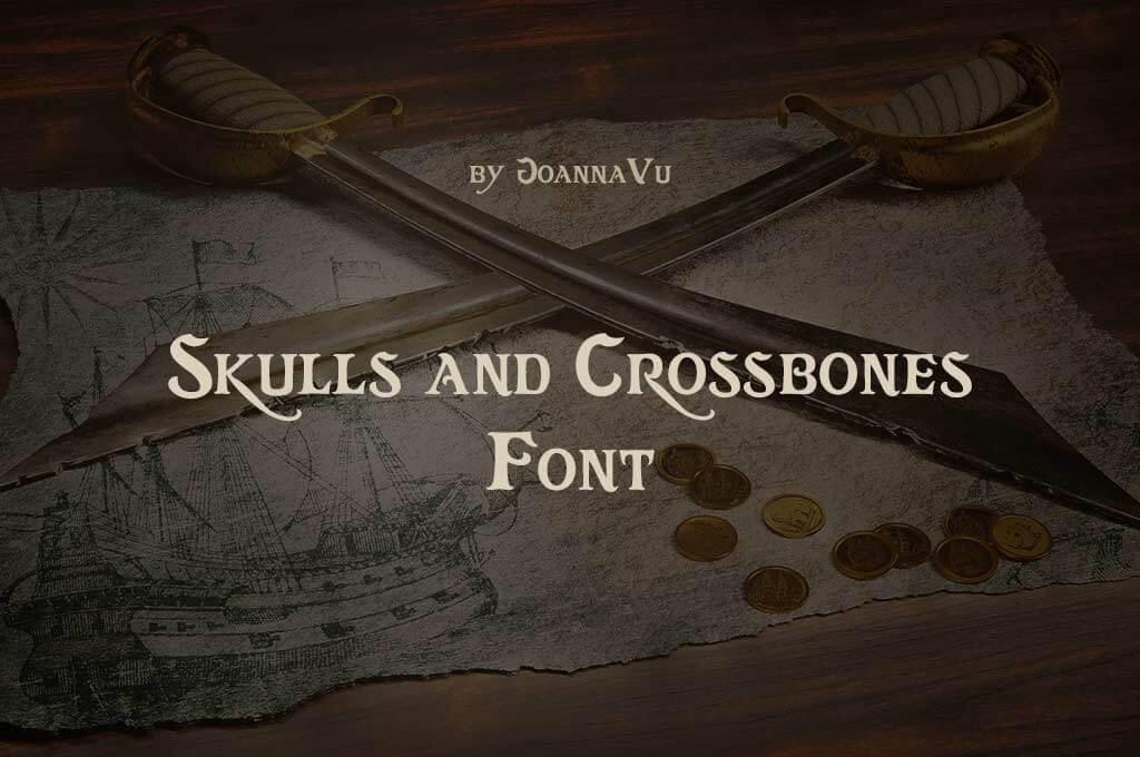 Skulls and Crossbones Font