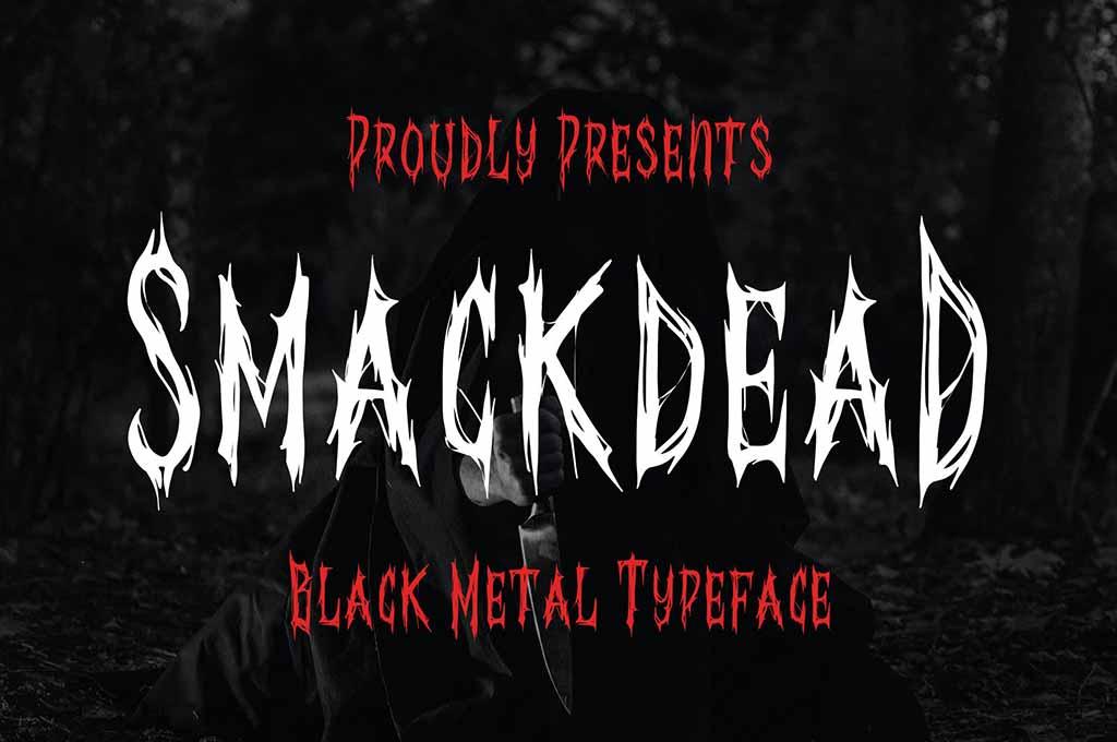 Smackdead — Black Metal Typeface