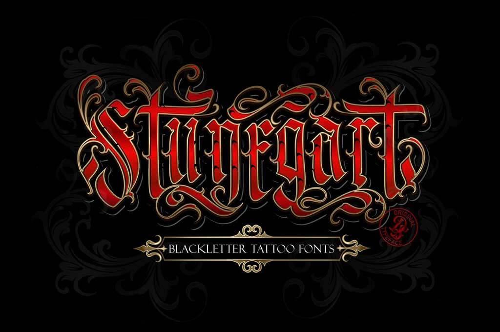 Stunegart Metal Font + Decorative Bonus