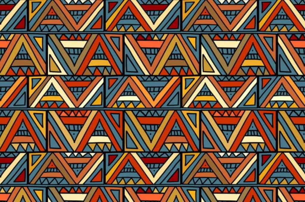 Trendy Tribal Ancient Geometric Seamless Pattern