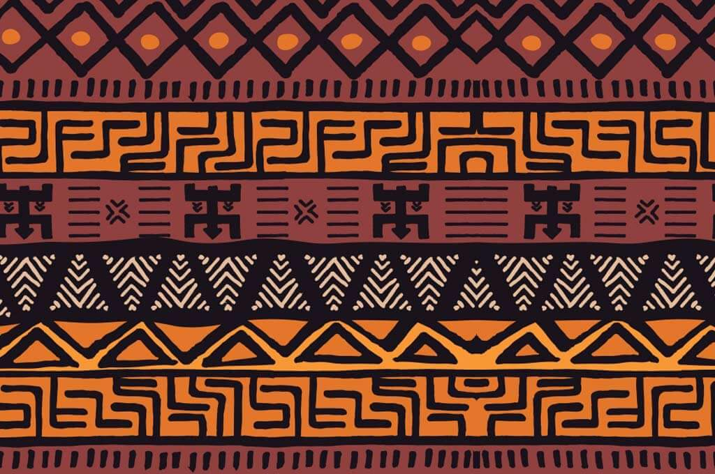 Tribal Ethnic Colorful Bohemian Pattern with Geometric Elements