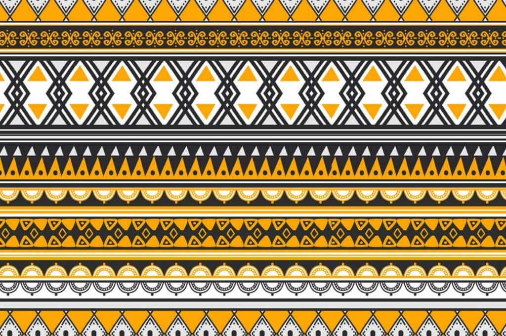 Tribal Ethnic Drawing Background Seamless Pattern