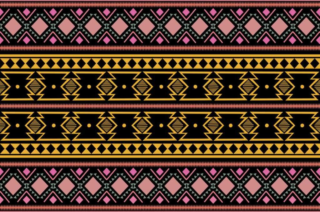 Tribal Ethnic Vintage: Colorful Trendy Seamless Pattern