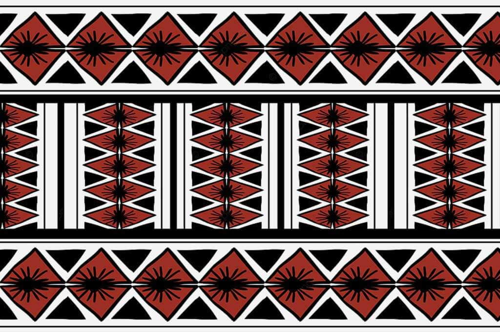 Vector Tribal Pattern With African Ethnic Symbol