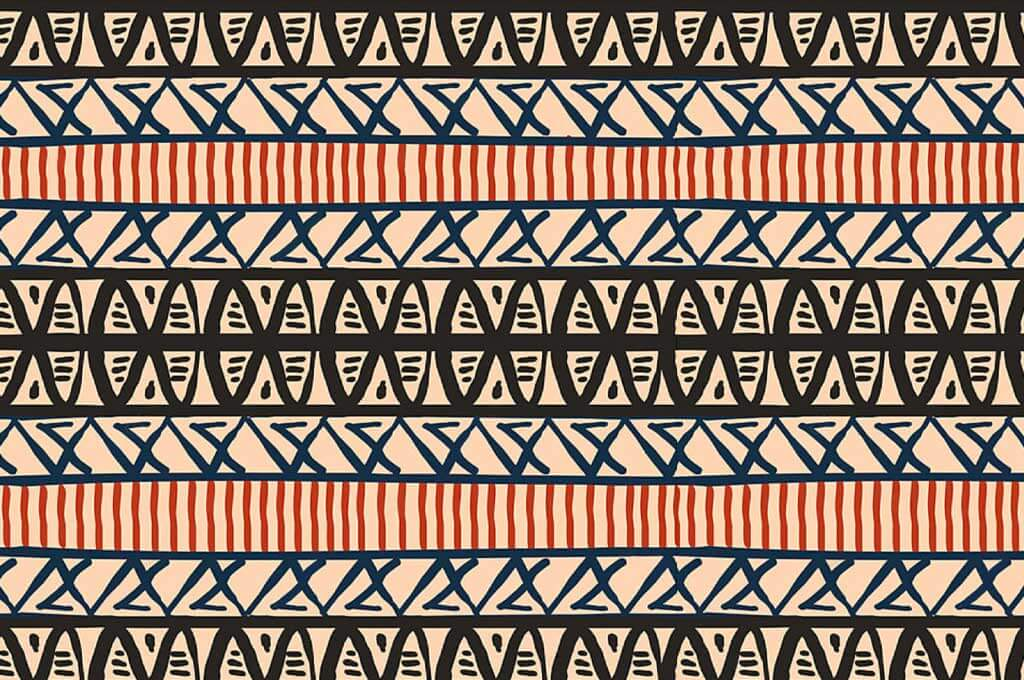 Vintage Abstract Stripes Tribal Pattern