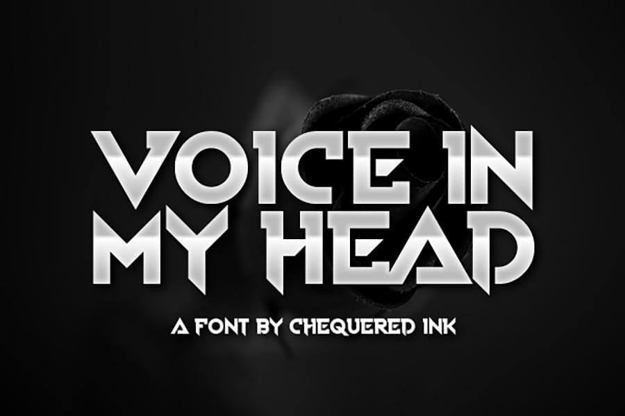 Voice In My Head — Metal Font