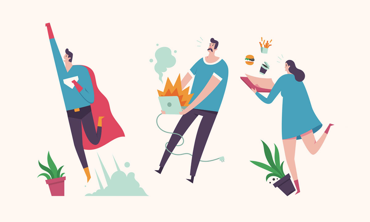 Woosh! — Vivid Library of Characters