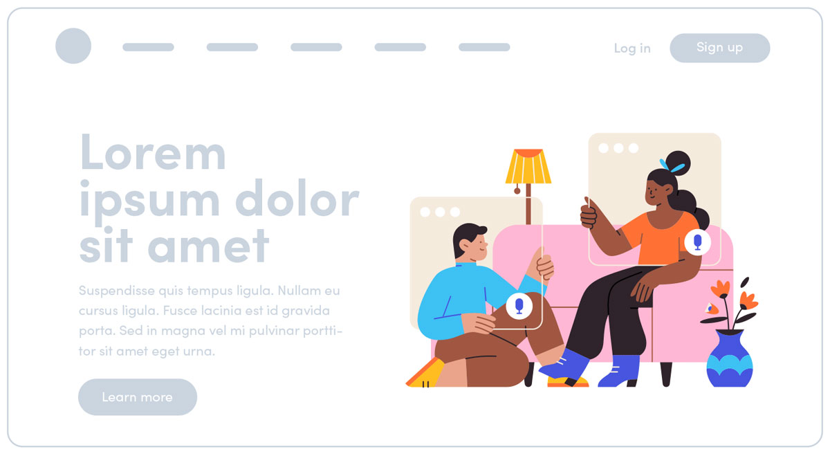 Working From Home Illustrations