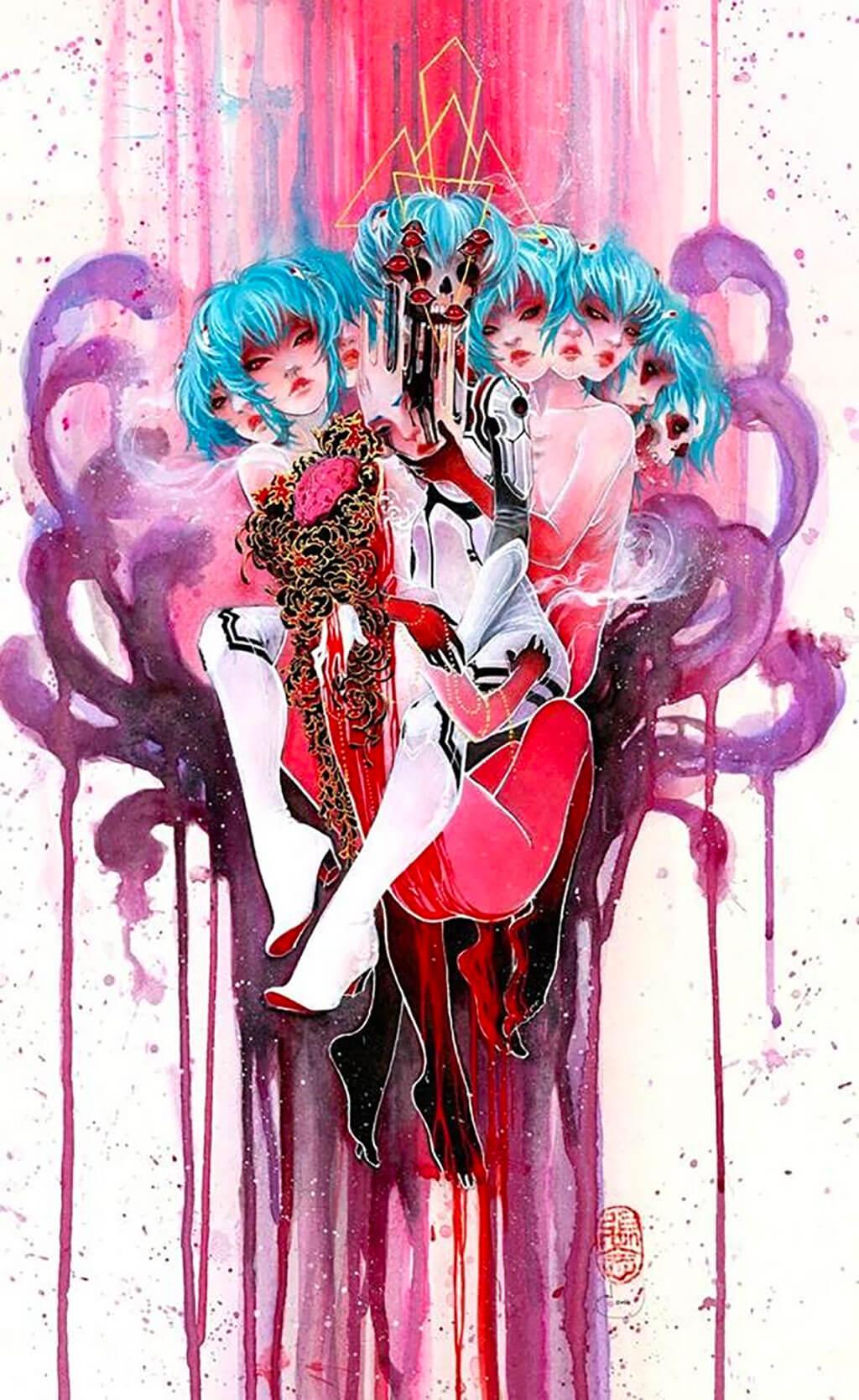 Evangelion Fan Art by Nen Chang