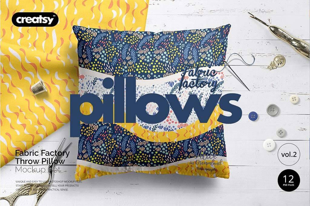 Fabric Factory vol.2: Pillow Mockup