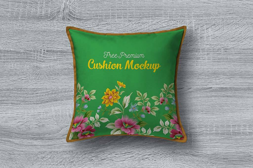 Free Premium Pillow / Cushion Cover Mockup PSD
